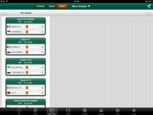 Roland Garros draw screenshot
