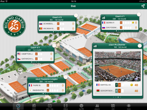 Roland Garros home screen