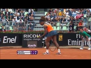 Screenshot of tennis match in Eurosport Player